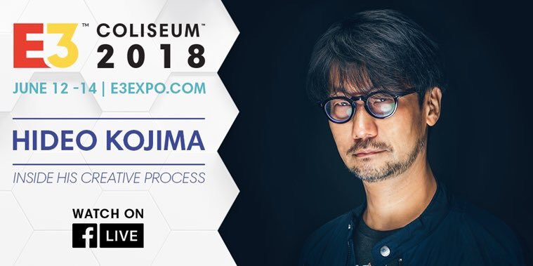 Mira en vivo a Hideo Kojima, el creador de Death Stranding, en el Coliseum de E3 2018