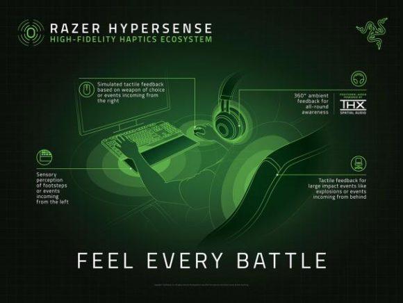 Razer HyperSense promueve el siguiente nivel de inmersión táctil en los videojuegos