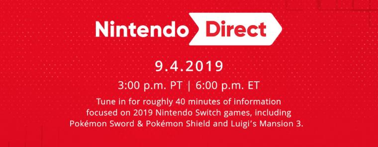 Mira con nosotros el Nintendo Direct de hoy 4 de Septiembre 2019